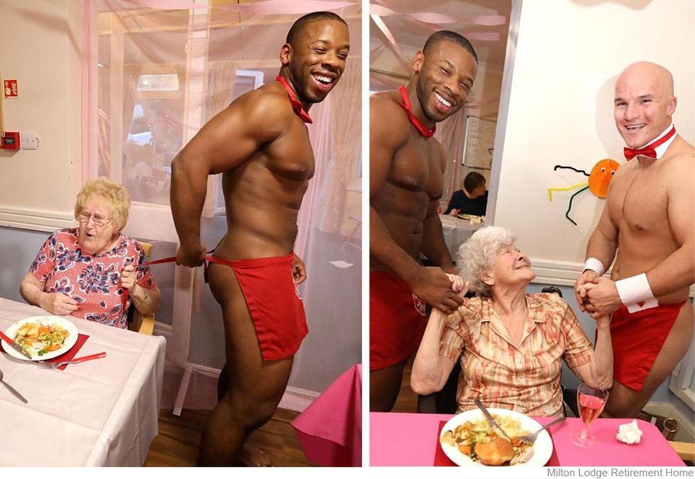 Des hommes nus en maison de retraite